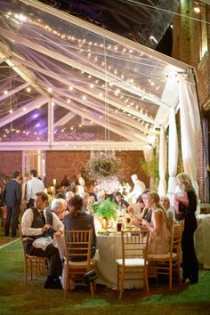 Fantastic blend of Rustic & Mod - this is one garden party we want to attend!
