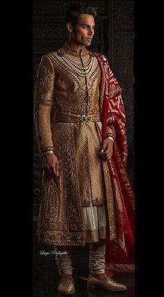 ~ Living a Beautiful Life ~ Couture - Tarun Tahiliani Tarun Tahiliani Tarun Tahiliani, Indian Men Fashion, Mens Fashion, Fashion Outfits, Groom Fashion, Bridal Fashion, High Fashion, Indian Groom Wear, Indian Man