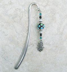 Hamsa Bookmark Lampwork by glassfantasies on Etsy, $19.95
