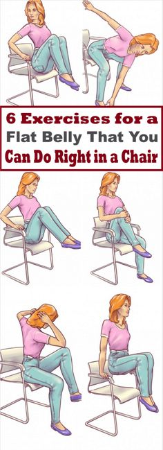 6 Exercises for a Flat Belly That You Can Do Right in a Chair -
