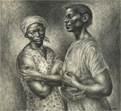 """Oh, Mary, Don't You Weep (1956)"" by Charles White"