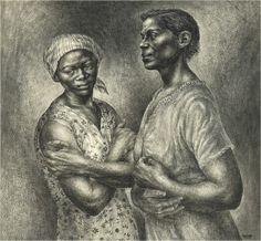 Afro-American Artists Arm in Arm: Charles White & Kerry J. African American Artist, American Artists, African Art, Harlem Renaissance Artists, Black Figure, Graffiti Painting, Black Artwork, Black Artists, Art Institute Of Chicago