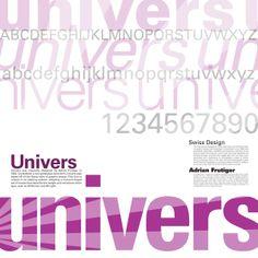 Univers Font Poster by Katie Redington, via Behance