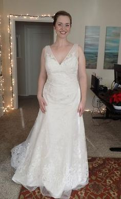New (Un-Altered) Oleg Cassini CWG517 Wedding Dress $400 USD. Buy it PreOwned now and save 66% off the salon price!