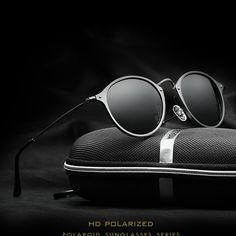 VEITHDIA Marque De Mode Unisexe Lunettes de Soleil Polarisées Revêtement  Miroir Conduite lunettes de Soleil Ronde 2c9a19968bf5