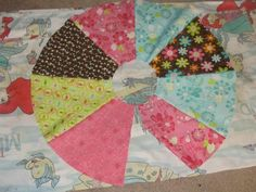 panneled circle skirt and great way to make pattern for circle skirt