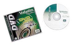 Verbatim DVD+RW 4.7GB Branded with Jewel Compat. with HP & Dell DVD+RW (1-Pack) by Verbatim. $14.98. Verbatim DataLifePlus 2.4x DVD+RW Media 93717 DVD Media