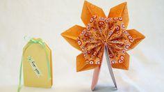 mini Pop Up Karte 360° mit Origami, Fleurogami Blume... Pop Up Card...