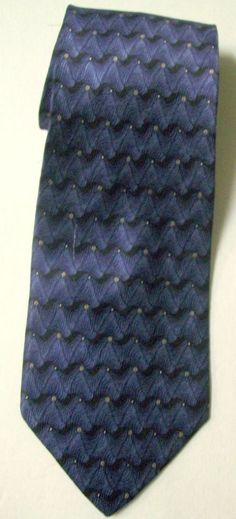 "CHEZ ROFFE Blue 100% Imported SILK Neck TIE 4"" x 58""  ~ New in Sleeve #ChezRoffe #NeckTie"