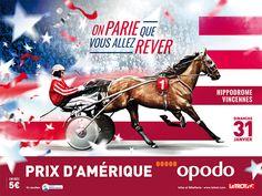 """Affiche du Grand Prix d'Amérique avec """"Le Trot"""""""