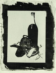 Maurice Tabard Nature Morte A La Bouteille Vers 1960