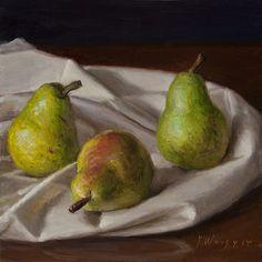 Wang Fine Art: pears still life original small work of art alla ...