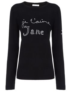 Black Wool Je T'aime Jane Jumper Bella Freud