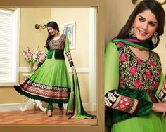 Beautiful Green Indian Salwar from She'z Lemon Boutique. Price INR. 3,500.00 Hurry for your orders. Mail to: shezlemon@gmail.com