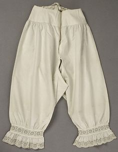 Underpants (Drawers) Date: 1840s Culture: American or European Medium: cotton