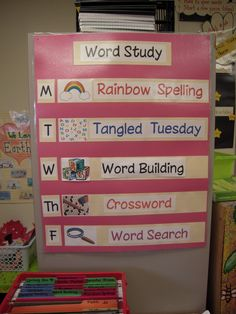 Make a spelling choice poster for the week. Students make daily choice and then turn in assignment daily. Teacher will need to have choices taught and worksheets available.