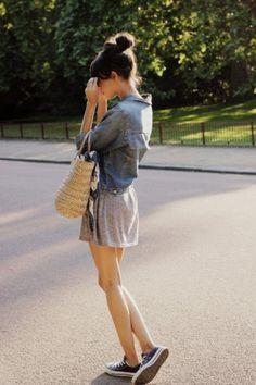데님청자켓 Casual Outfit