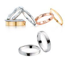 Alianças de casamento da Tiffany