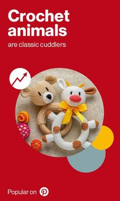 Crochet is making a comeback when it comes to kids toys. We're seeing crocheted versions of toy classics like teddy bears and bunny rabbits, while new creatures like unicorns and jellyfish are also popping on Pinterest. Diy Christmas Gifts, Holiday Gifts, Holiday Ideas, Crochet Animals, Crochet Toys, Bunny Rabbits, Secret Santa, Inspirational Gifts, Jellyfish