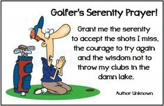 Always say your prayers, the Golf Gods are fickle.