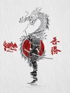 Images For Arts And Crafts Product Japanese Art Samurai, Japanese Warrior, Japanese Artwork, Samurai Drawing, Samurai Artwork, Samurai Warrior Tattoo, Warrior Tattoos, Arte Ninja, Ninja Art