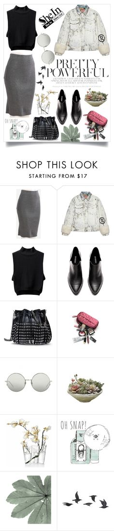 """""""grey yeay #2"""" by carissaam ❤ liked on Polyvore featuring Gucci, STELLA McCARTNEY, Linda Farrow, iittala and Jayson Home"""