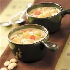 Hearty Cheese and Vegetable Soup Recipe from Taste of Home