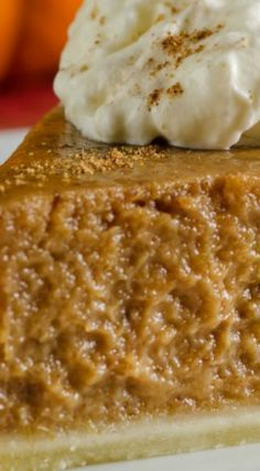 Easy 5 Ingredient Pumpkin Pie ~ Delicious show-stopping fall favorite