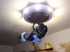 GlaDOS Ceiling Lamp – Instructables
