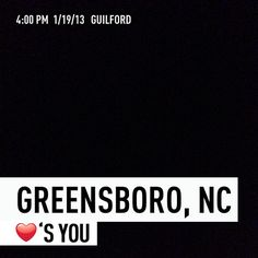 Greensboro, NC ❤'s You