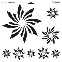 LPS0001 Starburst - TSC Stencil Designs