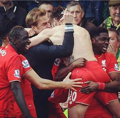 Being red. Liverpool FC
