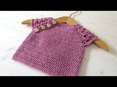 How to crochet a pretty lace sleeve baby top / sweater - YouTube
