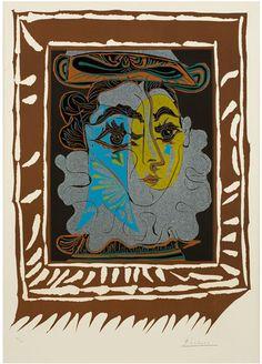 By Pablo Picasso, 1 9 6 2, Femme au Chapeau.