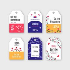 Spring label/badge collection with sale . Ribbon Banner, Vector Free, Design Inspiration, Collection, Spring, Badges, Label, Painting, Amor
