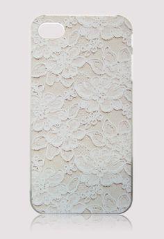 Floral Lace Print Mobile Phone Case