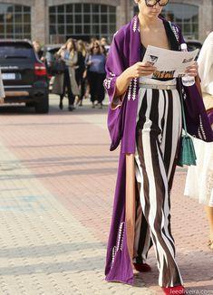Purple Kimono Robe | LeeOliveira