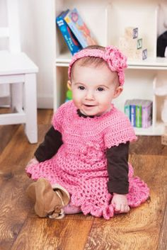 Little Sweetie Dress and Headband #Crochet #MichaelsStores