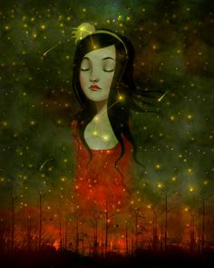 She Dreamt She Rose Above It, by Meluseena.