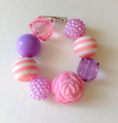 Princess Sofia Chunky Bracelet on Etsy, $6.00