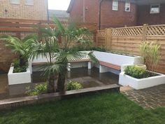 Image result for built in garden seating