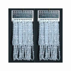 Shower Curtain Bling Crystal Via Etsy Accessories Beaded Curtains Drapery