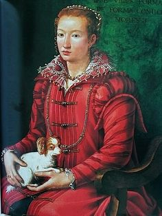 Alessandro Allori (1535-1607) : Woman with Dog 1560-70