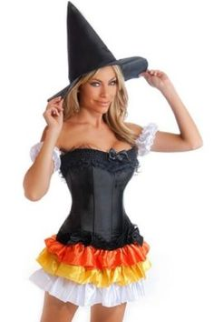 Adult Halloween Candy Corn Witch Costume | Halloween in Candy Corn Hollow Theme Party u0026 Decorating Ideas | Pinterest | Candy corn Witch costumes and ...  sc 1 st  Pinterest & Adult Halloween Candy Corn Witch Costume | Halloween in Candy Corn ...