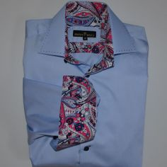 Bertigo Designer Casual Shirt Size 5 Men's Dress Extra Large XL Blue Paisley  #Bertigo