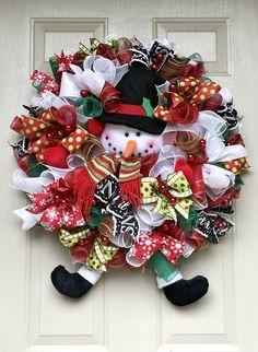 Diy christmas wreath do it yourself today pinterest snowman diy christmas wreath do it yourself today pinterest snowman wreath diy christmas and front doors solutioingenieria Gallery