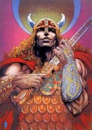 Nuada of the Silver Arm- Irish artist Jim Fitzpatrick Irish Celtic, Celtic Art, Jim Fitzpatrick, Red Crow, Irish Mythology, Celtic Culture, Legends And Myths, Sword And Sorcery, Gods And Goddesses