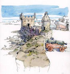 Julio del Rio (@juliodelrio_) в Instagram: «Essaouira, Morocco. Pen&Watercolour. #aquarell #art #painting #watercolor #sketch #paint #drawing #sketching #sketchbook #travelbook #archisketcher #sketchaday #sketchwalker #sketchcollectoпr #artbook #artjournal #traveldiary #topcreator #usk #urbansketchers #urbansketch #скетчбук #скетч #скетчинг #pleinair #aquarelle #watercolorsketch #usk #architecture #topcreator