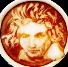 Beethoven latte art