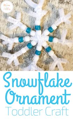Snowflake Craft for Toddlers to Gift this Christmas. Easy to put together with minimal materials. This snowflake craft is the perfect way for toddlers to work on fine motor skills while creating a beautiful holiday gift. Christmas Crafts For Toddlers, Arts And Crafts For Teens, Toddler Christmas, Christmas Crafts For Kids, Craft Activities For Kids, Winter Toddler Crafts, Craft Ideas, Motor Activities, Winter Activities